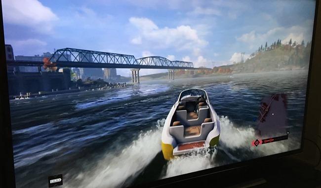 Watch dogs en streaming depuis la PS4 sur un téléviseur 55 pouces