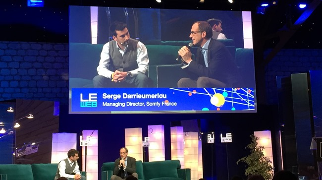 La conférence de Somfy lors de l'évènement LeWeb à Paris en 2014