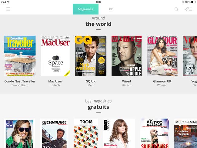 Un choix large de magazines numérisés
