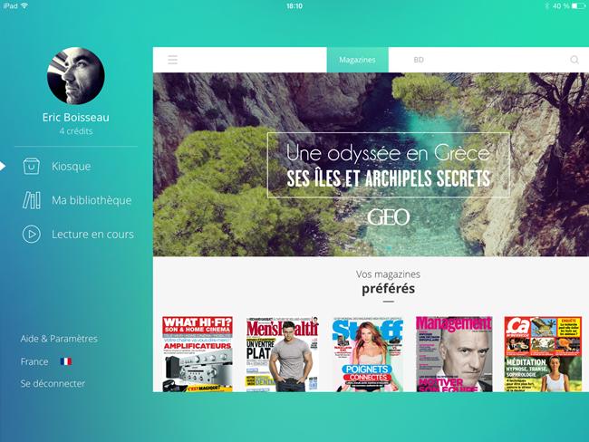 Le Kiosk - mes magazines sur iPad en version 100% numérique