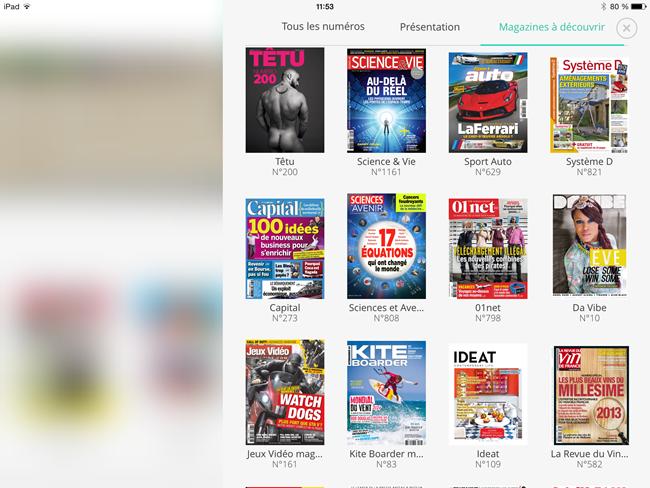 Toutes les magazines disponibles en abonnement