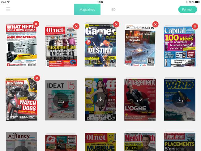 Ma collection de magazines numériques en mémoire ou à charger