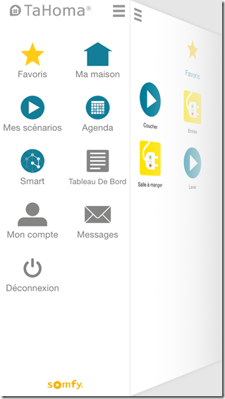 Application iPhone : tous les menus