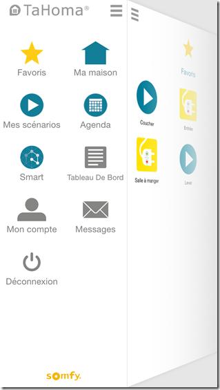 Application iPhone : tous les menus