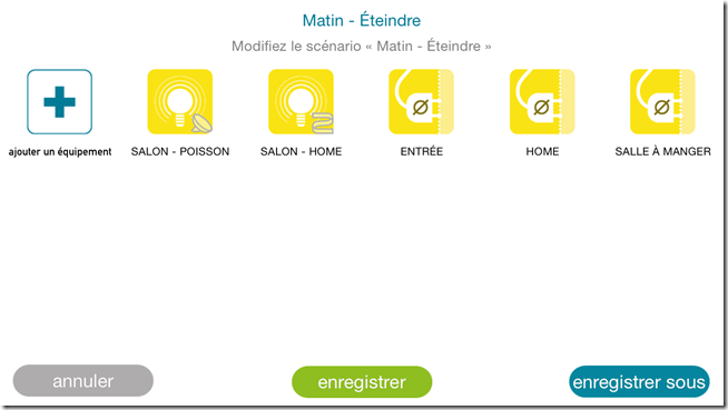 Application iPhone : modification d'un scénario avec l'ajout d'élements