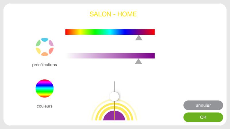 les clairages philips hue avec la box domotique tahoma de. Black Bedroom Furniture Sets. Home Design Ideas