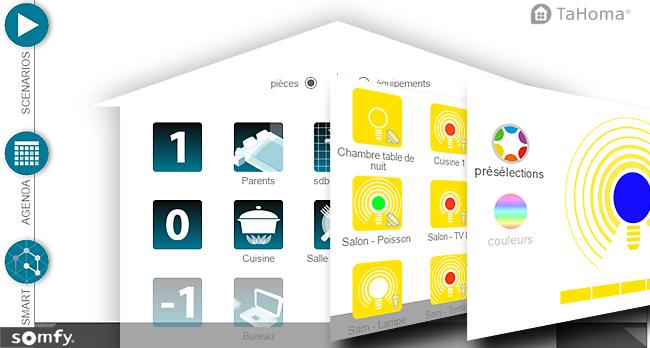 test et automatisation des éclairages Philips Hue avec la box domotique TaHoma de Somfy