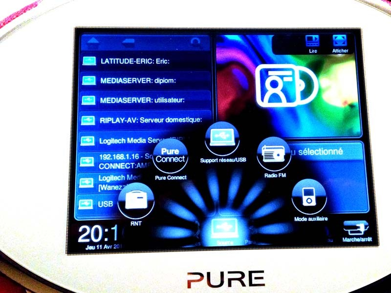 Pure Sensia 200D Connect - écran tactile - triple réception tuner radio
