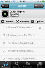 Ecoute en streaming des fichiers musicaux