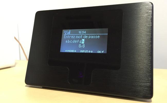 Saisie rapide du mot de passe WiFi via la télécommande