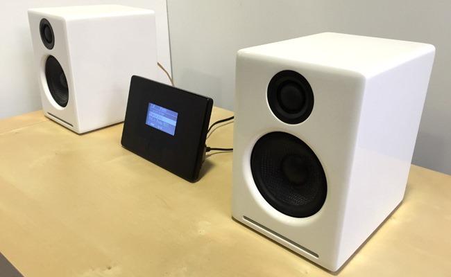 Une configuration avec la paire d'enceintes Audioengine A2+