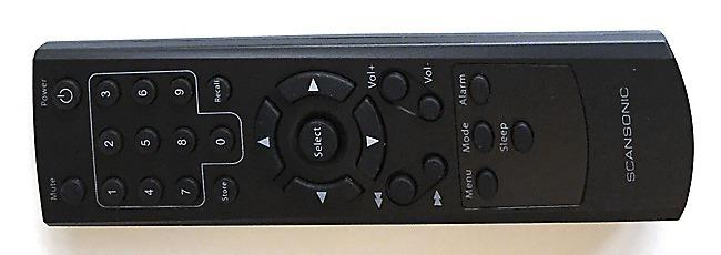 La télécommande infrarouge fournie