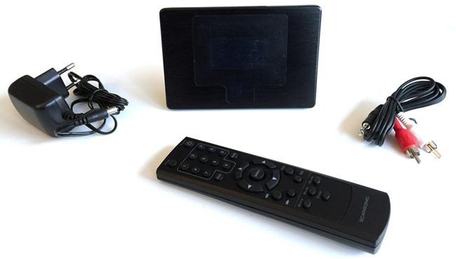 Tous les accessoires livrés avec le tuner radio Internet Scansonic i100