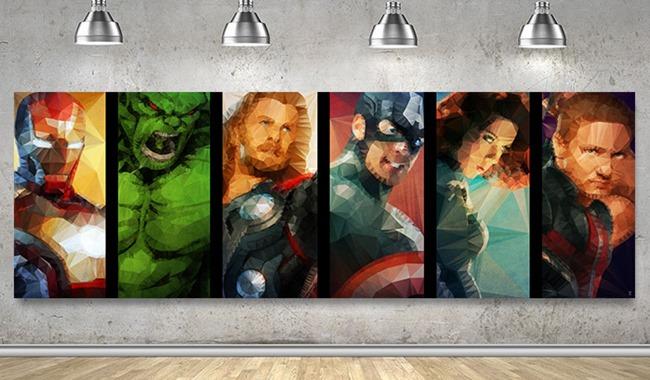 Super heros tableau et poster par Ideealizse
