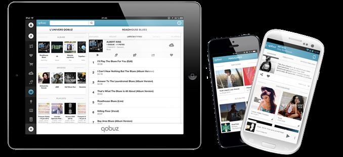 Aide et conseil pour utiliser l'application Qobuz et écouter la musique locale