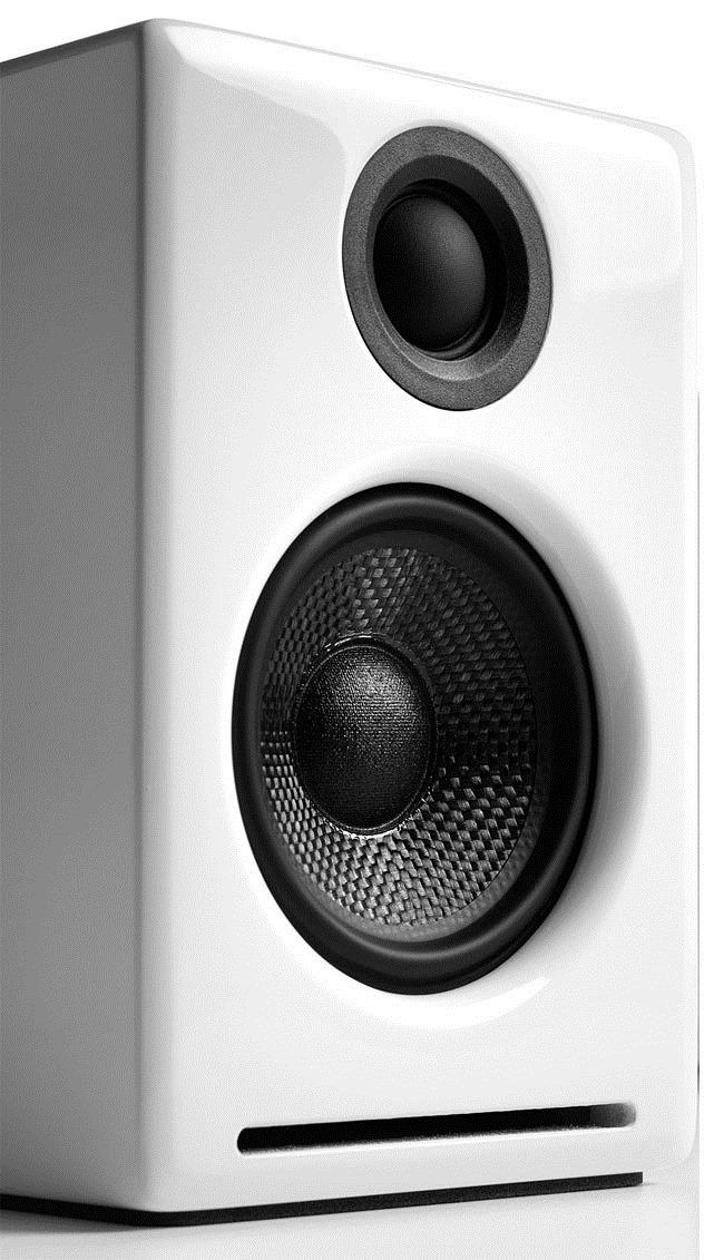Enceinte Audioengine A2+ en coloris laqué blanc