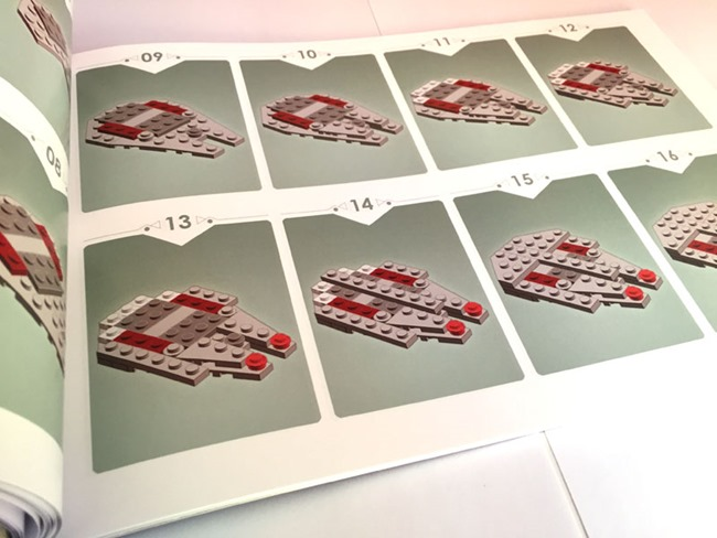 Lego : Les instructions de montage d'un Faucon Millenium en version micro