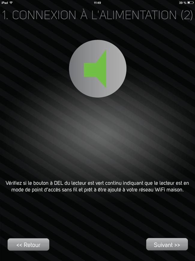 La configuration du lecteur peut débuter quand le lecteur est prêt : LED VERTE