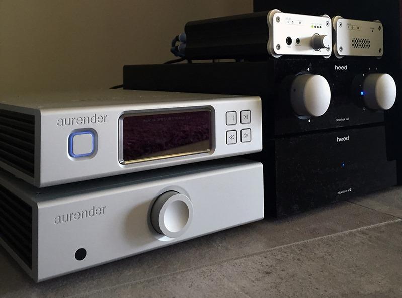 Configuration : lecteur Aurender, DAC audio SOtM, Amplication Heed