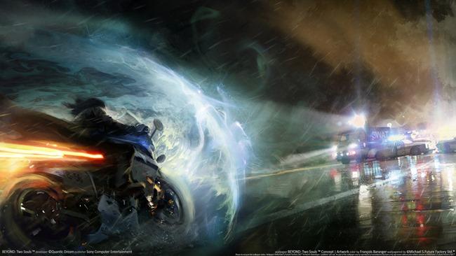 L'action cinématographique du jeux Beyond: two souls
