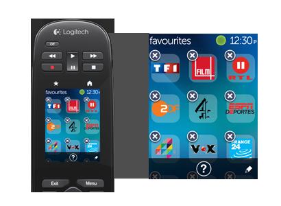 Personnalisation des icones sur l'écran tactile