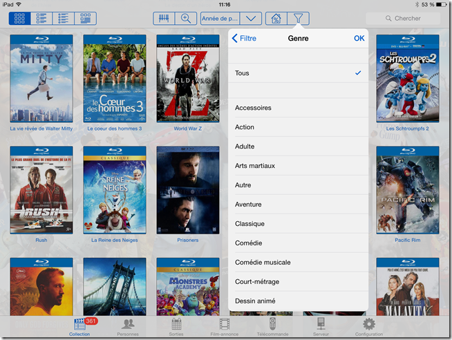 Cataloguer ses films DVD et Bluray selon le genre cinématographique