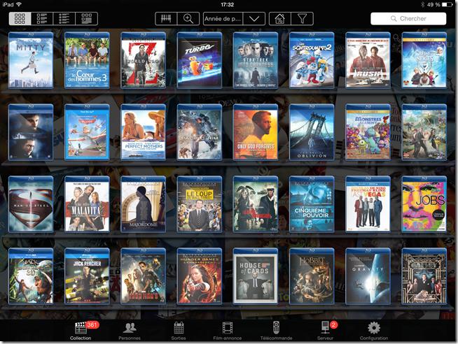 L'interface My Movies 2 en version noir
