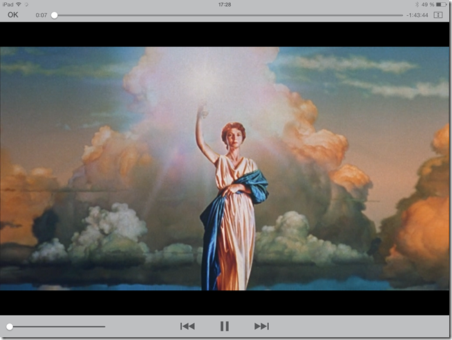 Lecture d'un film directement sur l'iPad