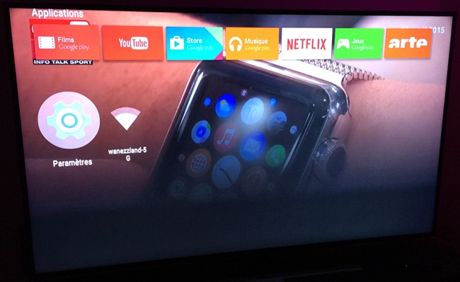 Android TV : La navigation dans l'interface Android avec le vidéo en cours
