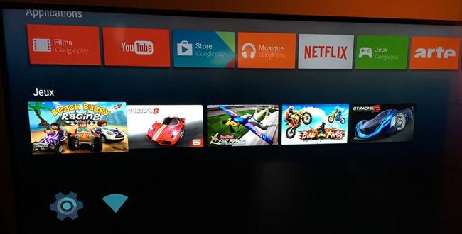 Les jeux installés sur le lecteur Nexus Player