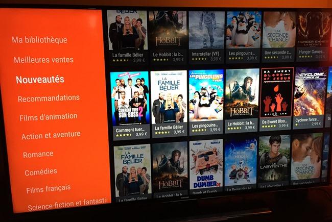 Nexus Player et l'offre VOD Google Play