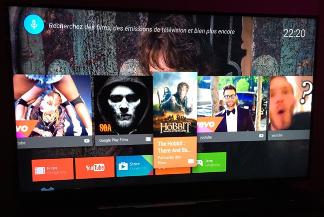 Nexus Player et son interface Android