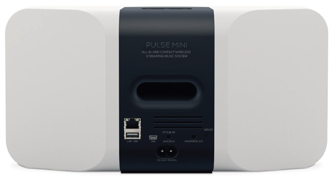 Connectique audio de l'enceinte sans fil Bluesound PULSE MINI