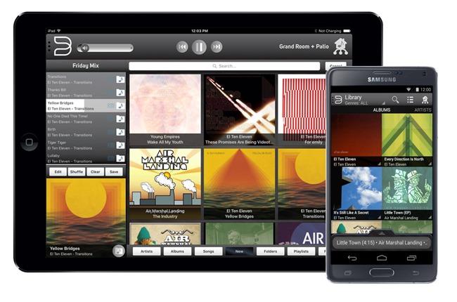 L'application sous Apple iOS et Android pour le pilotage de tous les lecteurs réseau audio et les enceintes sans fil WiFi - Bluetooh de la gamme Bluesound
