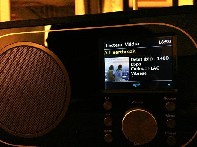 lecture de fichiers audio par le réseau en mode UPnP - compatible Flac HD 24 96