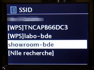 Choix du réseau WiFi de la maison