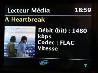 Lecture des fichiers audio, y compris le format Flac HD 24 96