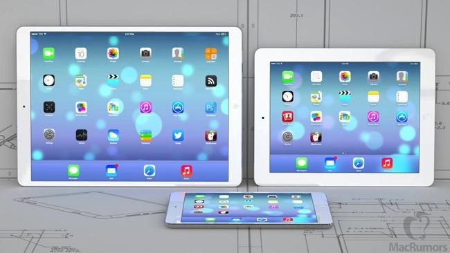 Comparaison entre l'iPad Retina et l'iPad Pro, deux écrans : 9 pouces et 12,9 pouces