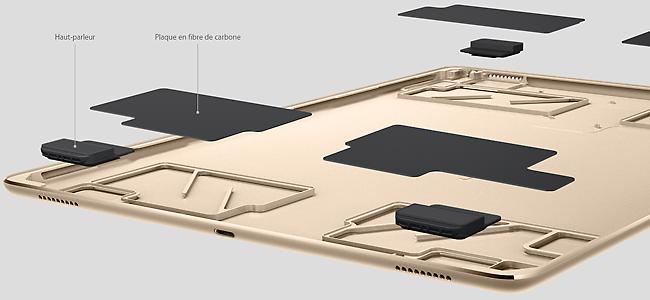 Les 4 haut-parleurs sonores de l'iPad Pro, un son incroyable est annoncé pour une tablette
