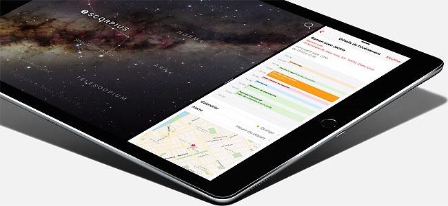 Afficher deux application en même temps sur l'écran de l'iPad Pro sous iOS 9