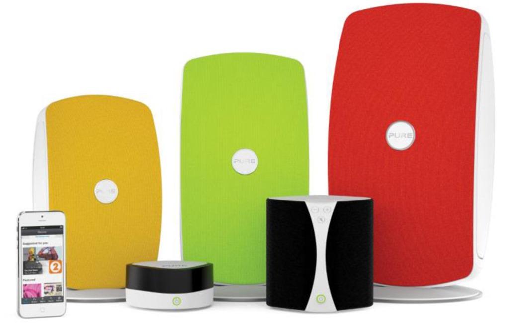 La gamme au complet des enceintes sans fil Jongo S3, T2, T4, T6 et la passerelle Jongo A2