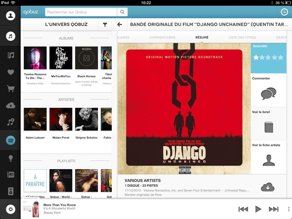 La pochette, les commentaires, le livret pour les musiques en ligne
