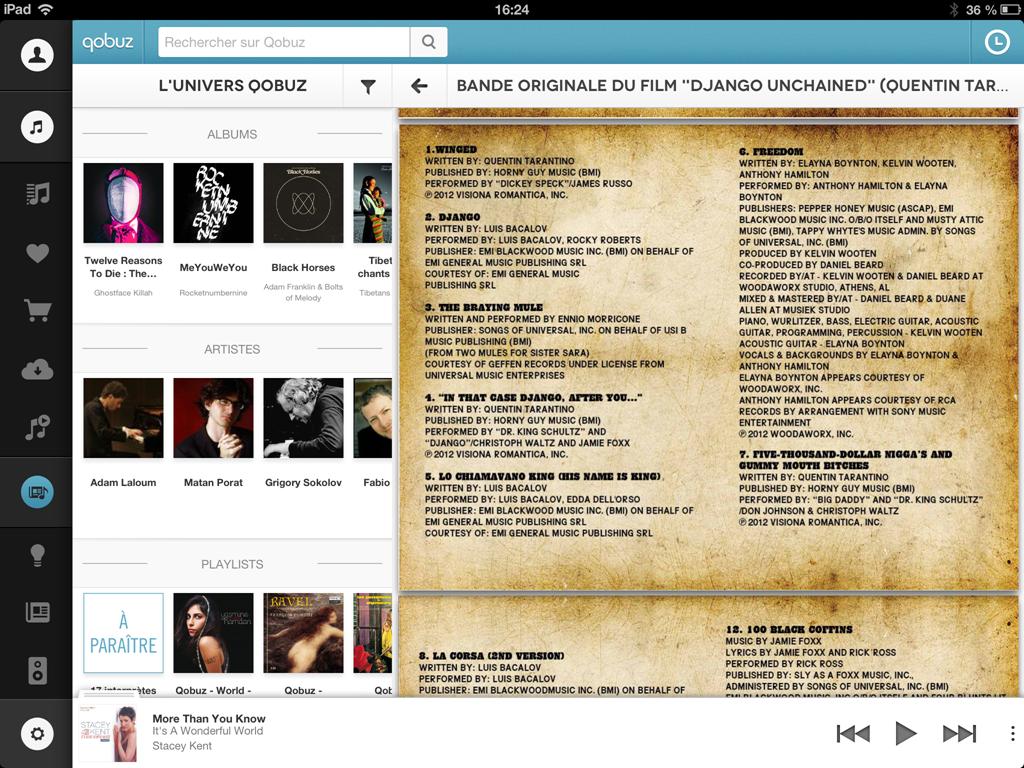 Livret complet de la musique en streming ou en fichier rip CD