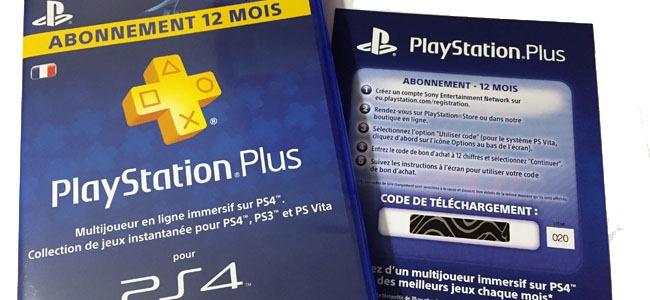 Promotion et bon de réduction pour abonnement PlayStation Plus pour PS3, PS4 et PS Vita