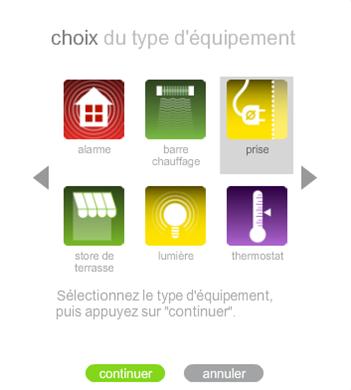 Liste des équipements électriques RTS compatible avec la box Somfy