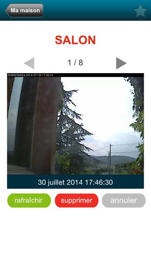 Accès à la caméra depuis l'application iPhone