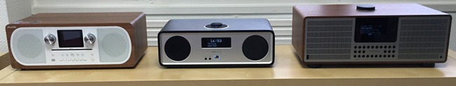 Test comparatif avec le Pure Audio Evoke CF-6, le Ruark Audio R2 MK3 et le Revo SuperSystem