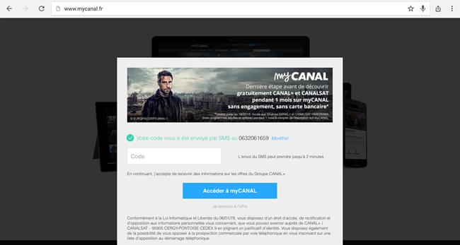 tester gratuitement pendant 1 mois MyCanal de Canal + et CanalSat