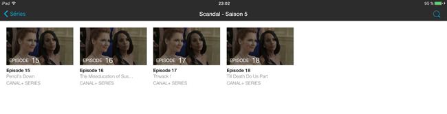 Tous les épisodes d'une série TV ne sont pas proposés