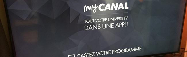 Le téléviseur est prêt à recevoir le flux vidéo par Chromecast de l'application MyCanal sur l'iPad